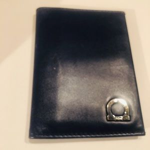 Salvatore Ferragamo Blue Leather small wallet